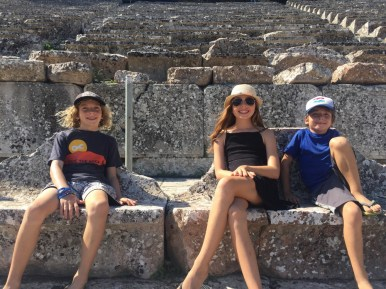 Epidavros with kids