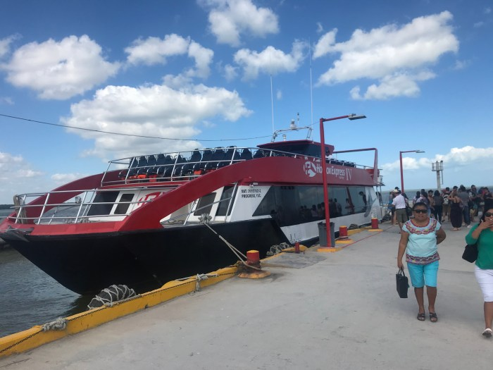 ferry to Holbox