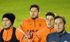 Javier Acuña entrenando con sus compañeros del Albacete. Hugo Piña