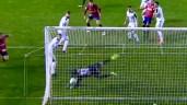 Captura de pantalla de La Liga 123 TV en el momento de la mejor parada de la jornada en la temporada 2017/18. LA LIGA 123 TV