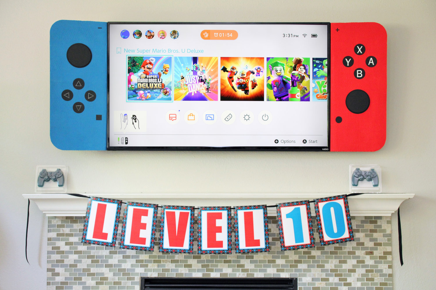 video game birthday party printable decorations editable instant download