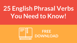 25 English phrasal verbs