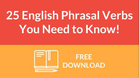25 English phrasal verbs