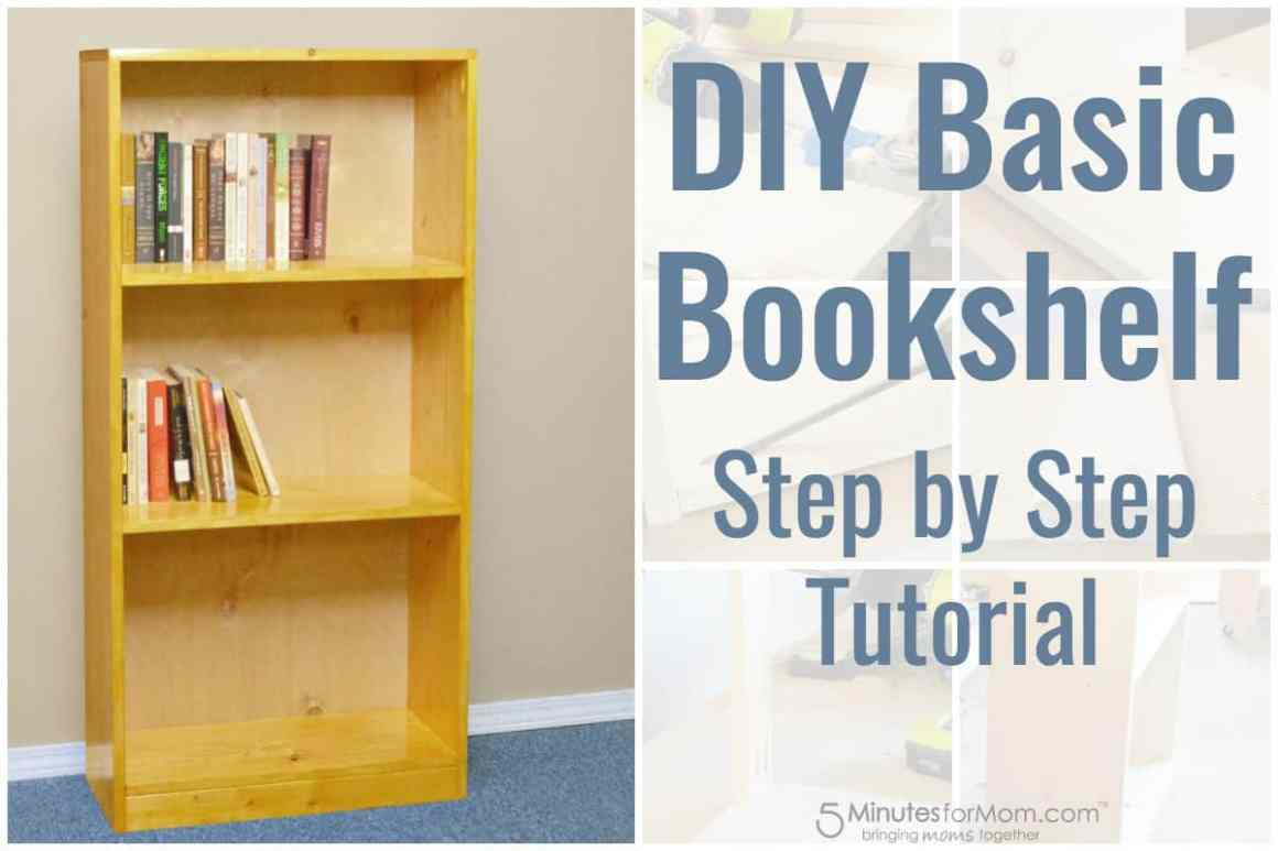 diy basic bookshelf - how to build a bookcase for beginners