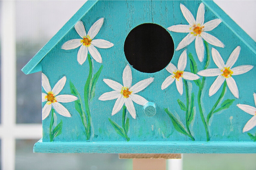 painted birdhouses easy spring