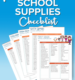 School Supplies List and Back to School Shopping Guide - 5 Minutes for Mom [ 1200 x 800 Pixel ]
