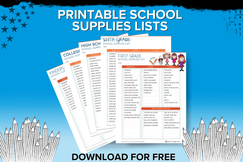 small resolution of School Supplies List and Back to School Shopping Guide - 5 Minutes for Mom