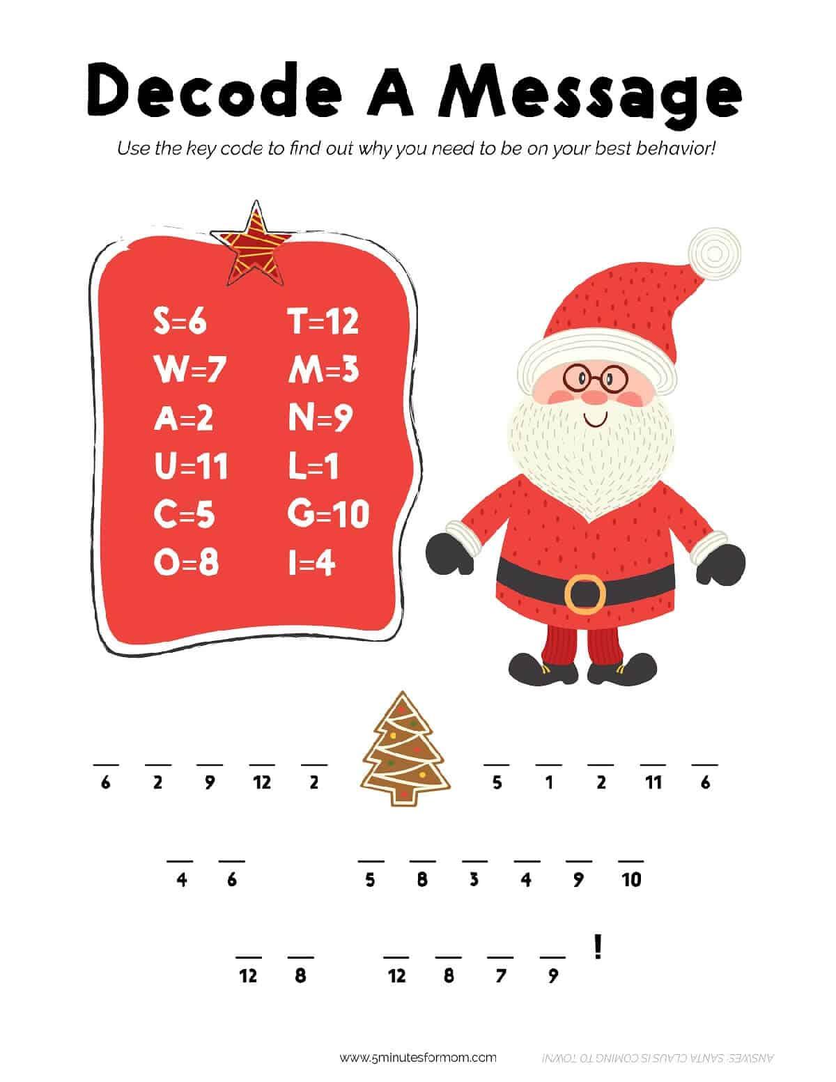 Christmas Printable Activities For Kids