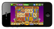 Slot game on smartphone