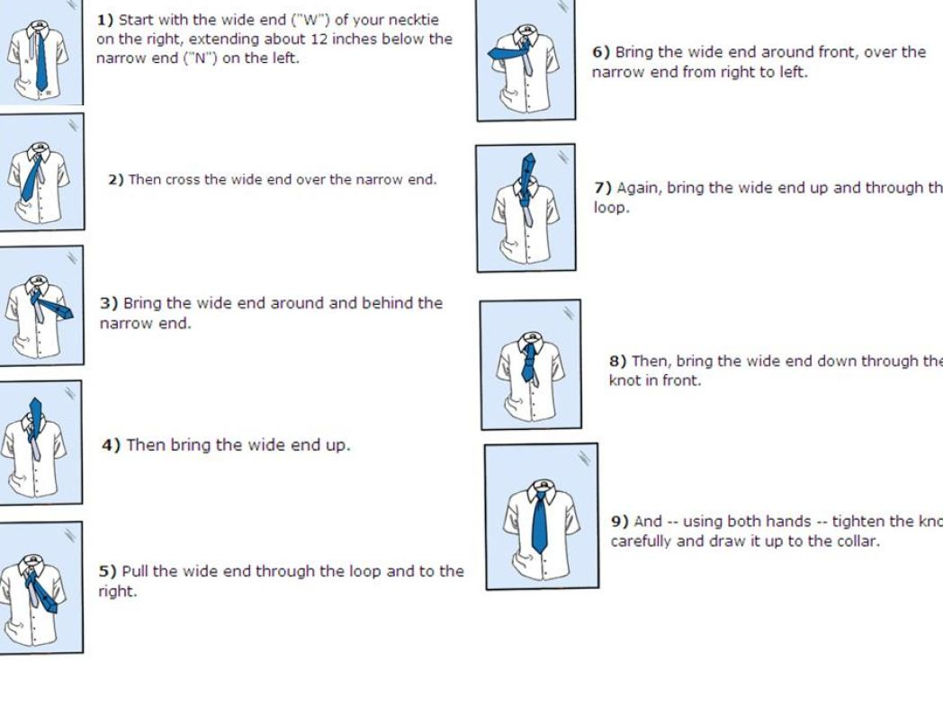 Double Windsor Knot Diagram How To Tie A Pictures 3