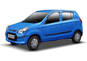 compact hatchback maruti alto 800 blue