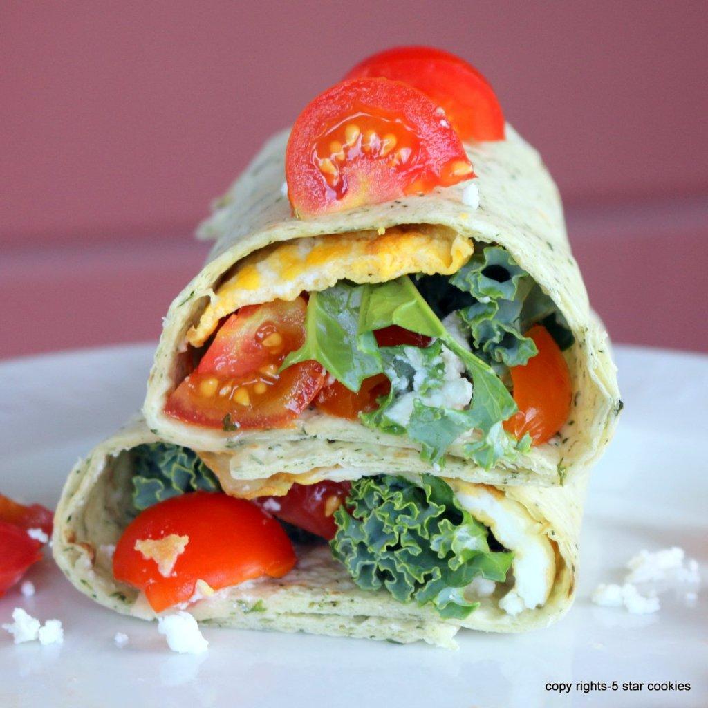 Mediterranean homemade wrap