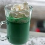 Irish Green Hot Chocolate