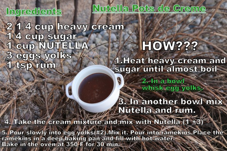 Nutella Pots de Creme of the 5starcookies ingredients how