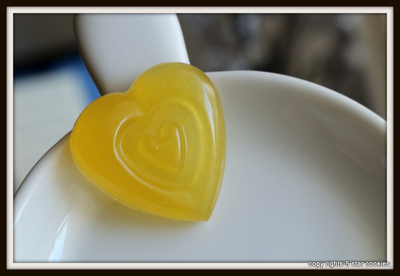 Organic Orange Gummy Hearts of the best food blog 5starcookies
