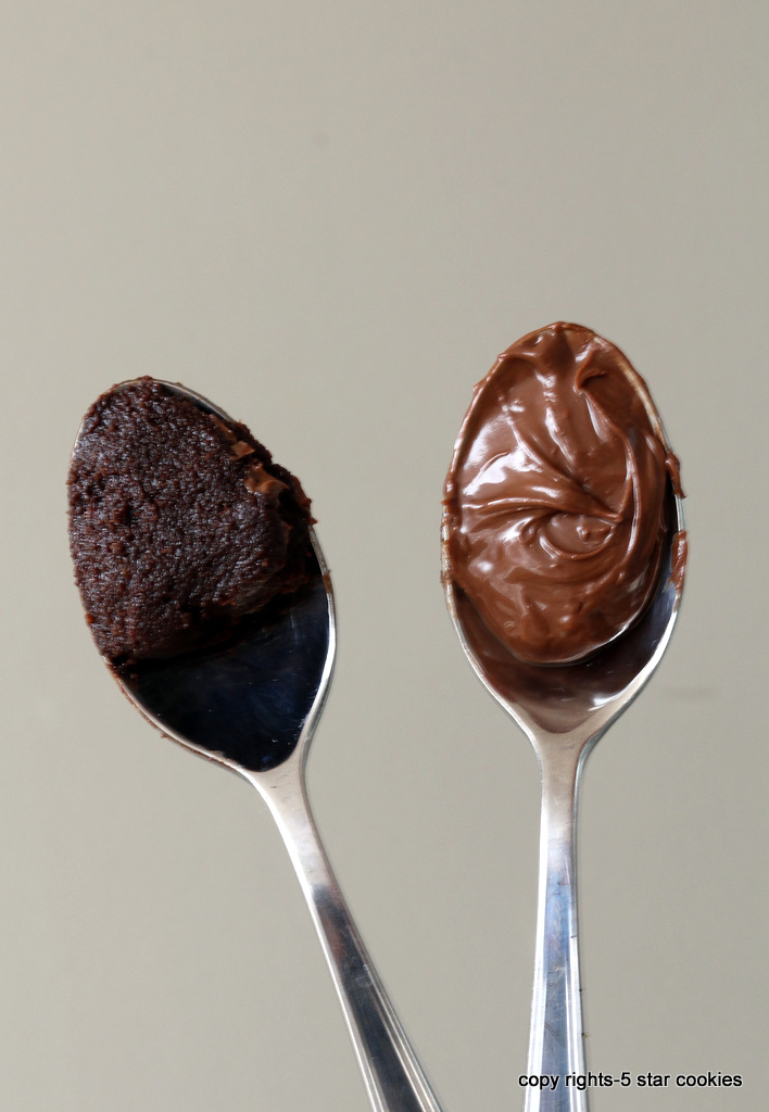 Vegan Nutella Homemade from 5starcookies food blog- Homemade Version Nutella in Spoon Version