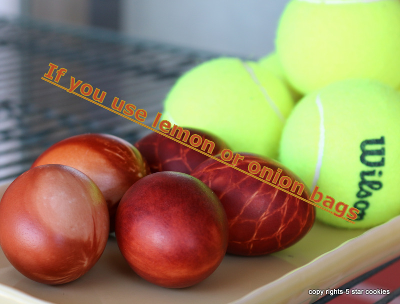 eggs and tennis from your favorite food blog 5starcookies onion bags