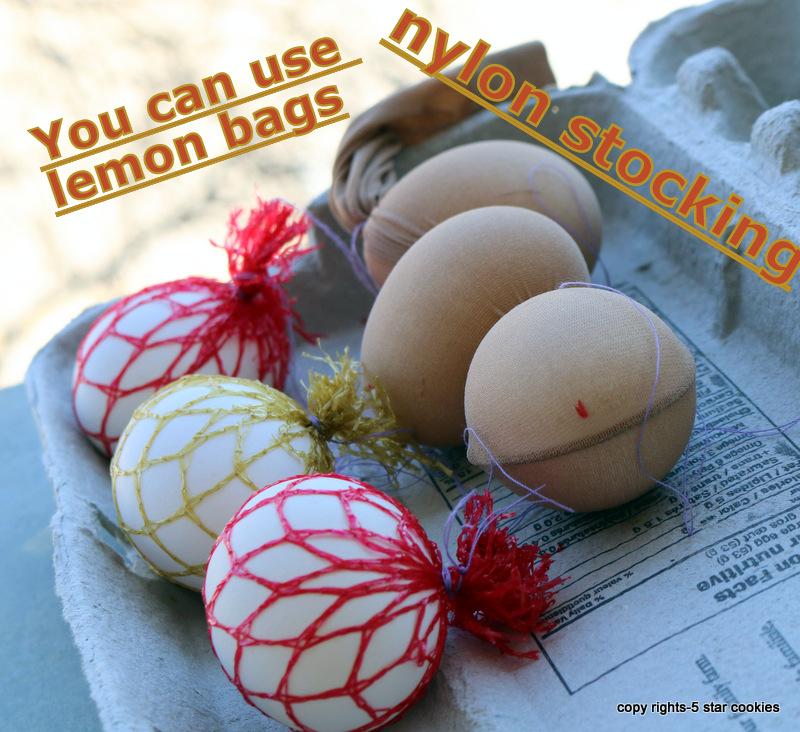 nylon stocking lemon bags or nylon stocking