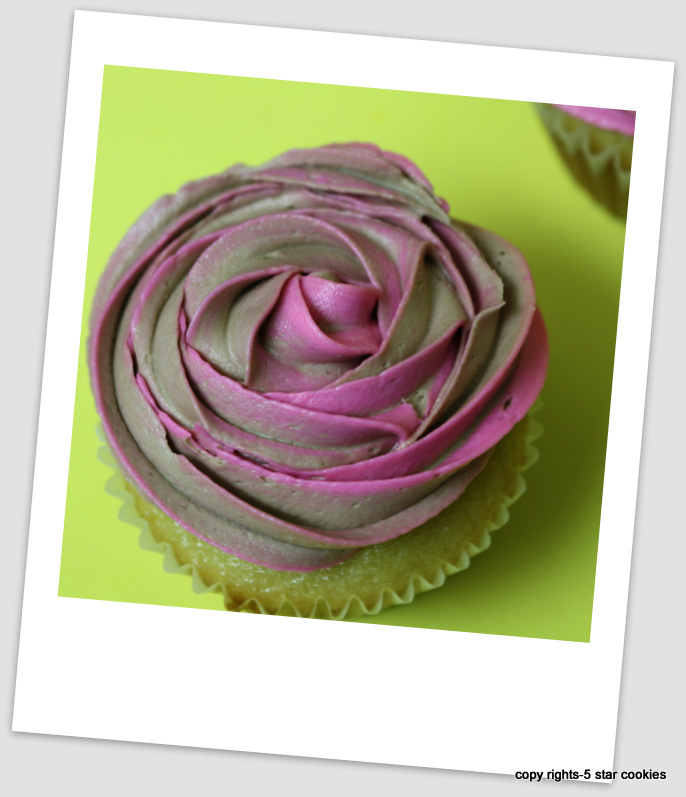 vanilla cupcake and frosting from the best food blog 5starcookies-Nutella Frosting