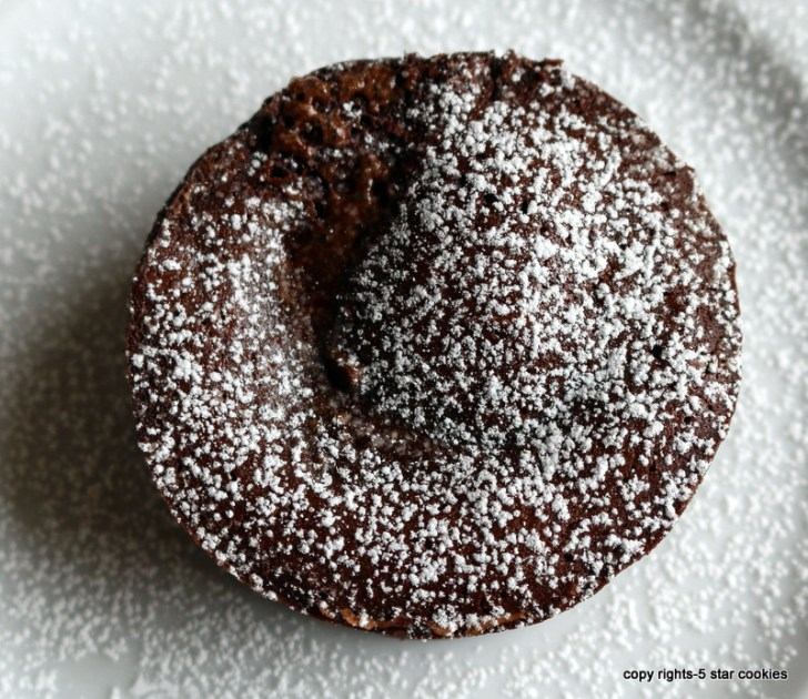Orange Intense Chocolate Lava Cake from the best food blog 5starcookies-No tension with this cake.Decorate with icing sugar