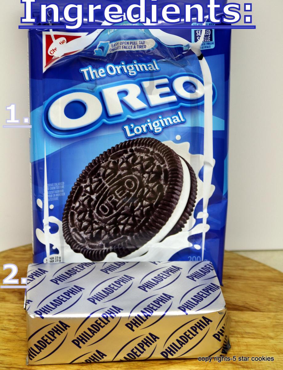 Oreo Truffles from the best food blog 5starcookies Ingredients