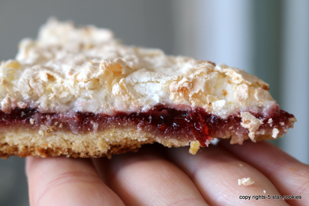 raspberry coconut squares from 5starcookies - Enjoy!
