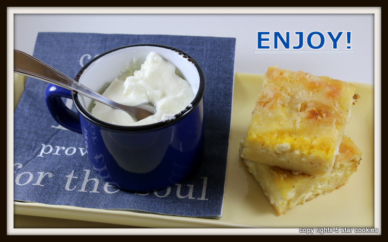 Grandmas Balkan Pie from the best food blog 5starcookies-baked cheese pie, enjoy