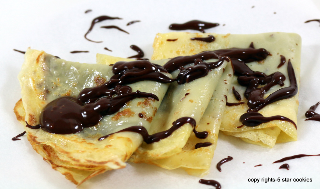 crepes from the best food blog 5starcookies-Serve