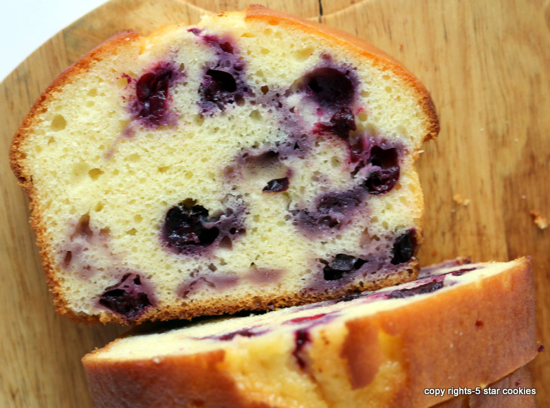 Blueberry Yogurt Loaf from the best food blog 5starcookies-enjoy your slice of heaven
