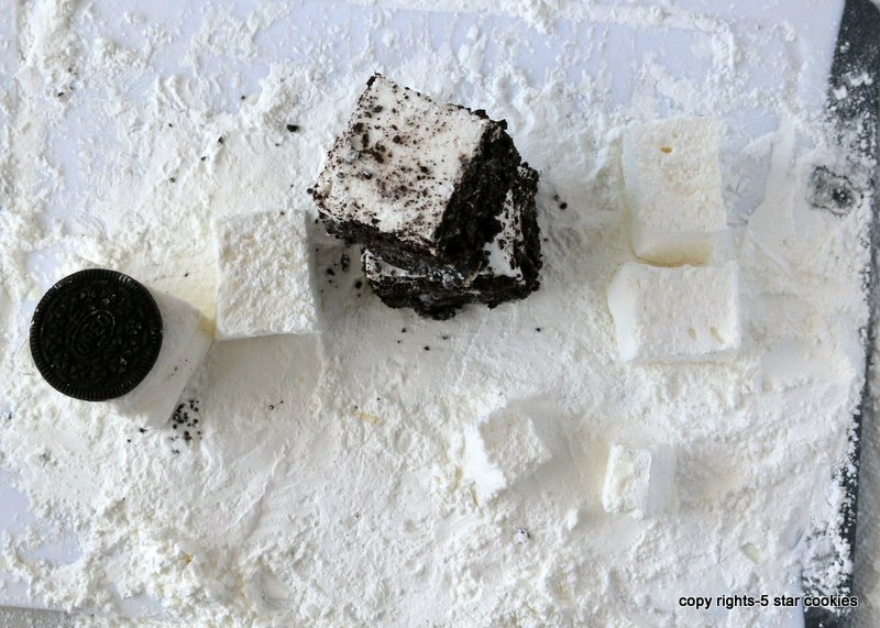 Oreo marshmallows from the best food blog 5starcookies-enjoy homemade marshmallows
