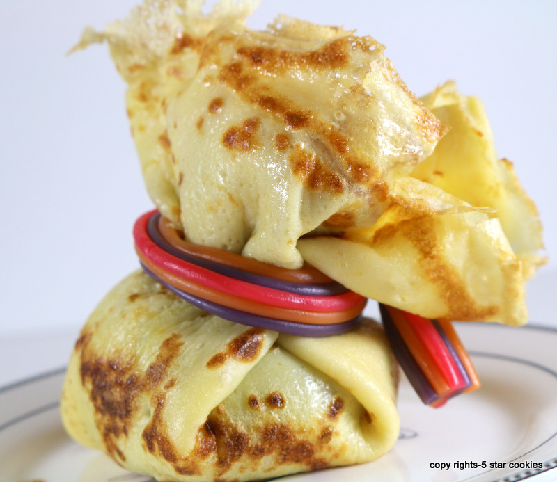 mini crepes treasure bundles from the best food blog 5starcookies - enjoy this amazing recipe
