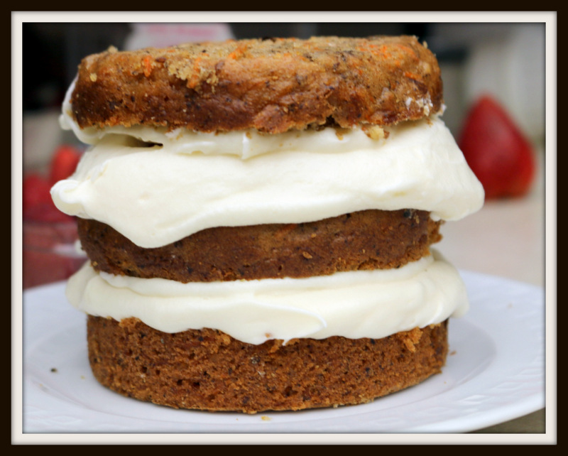 naked mini carrot cake from the best food blog 5starcookies -add third layer