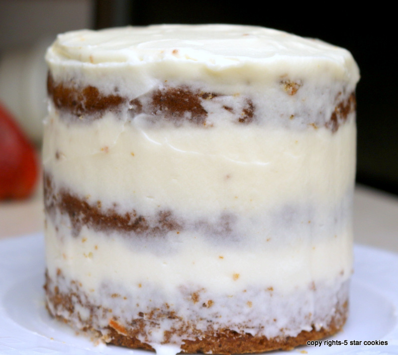 naked mini carrot cake from the best food blog 5starcookies -your naked cake