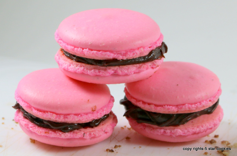 pink macarons from the best food blog 5starcookies
