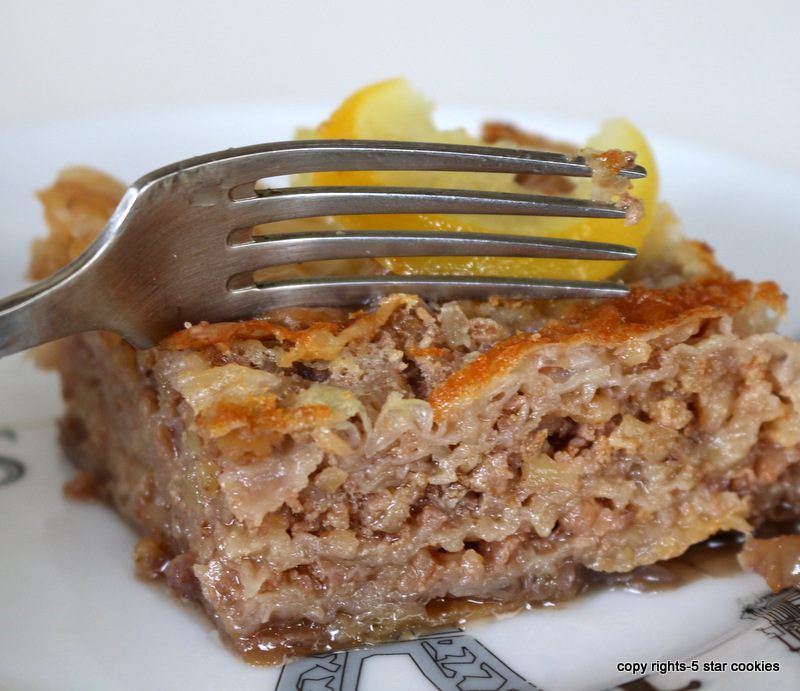 baklava from best food blog 5starcookies-say yes to love and baklava