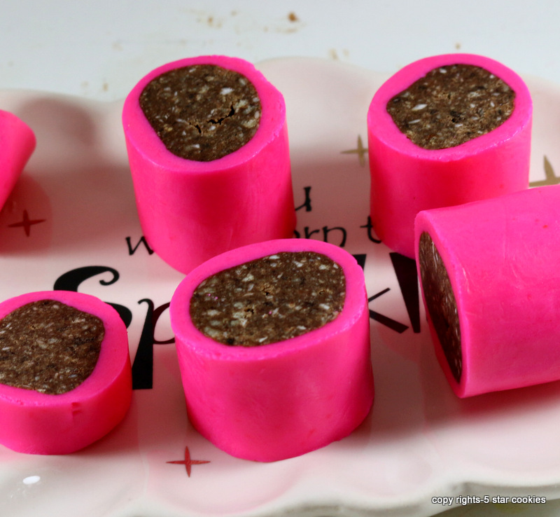 pink crumbs chocolate candy from best food blog 5starcookies