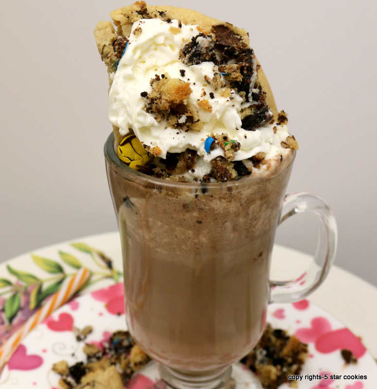 Chocolate Chip White Coffee Drink from the best food blog 5starcookies-enjoy and share