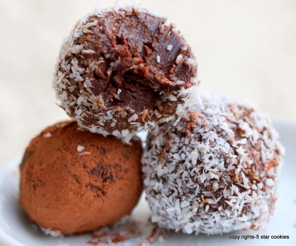 chocolate truffles from the best food blog 5starcookies-enjoy