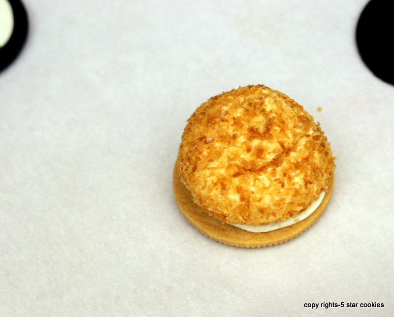 Golden Oreo Addition from your best food blog 5starcookies -press marshmallow gently