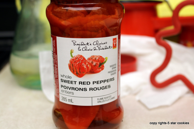 Cream Cheese Sandwich from the best food blog 5starcookies-sweet red peppers