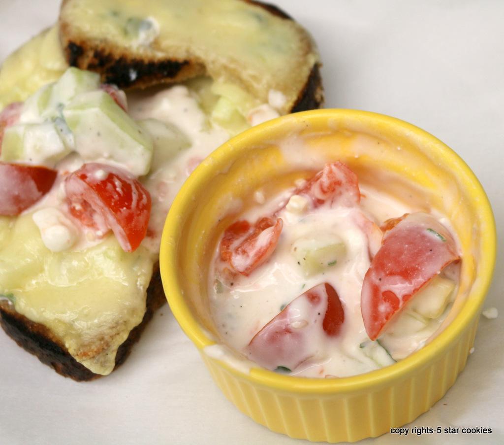 Yogurt Italian parsley dip salad version from the best food blog 5starcookies