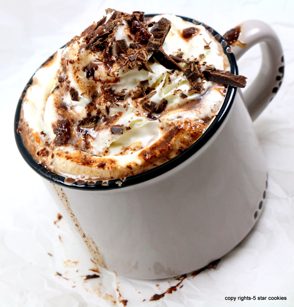 the best homemade hot chocolate from the best food blog 5 star cookies-enjoy the best hot chocolate