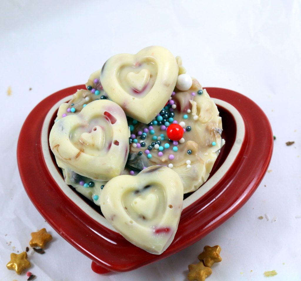 Chocolate Heart from the best food blog 5starcookies -homemade chocolate hearts for your special one