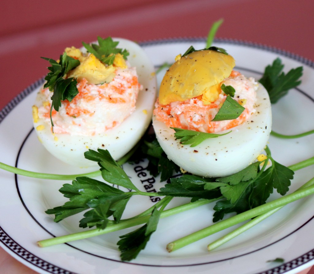 Deviled Barbie Eggs from the best food blog 5starcookies-how to make deviled eggs