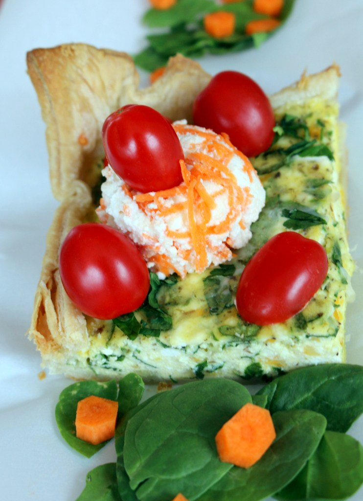 Ricotta and Spinach Quiche from best food blog 5starcookies -enjoy and share