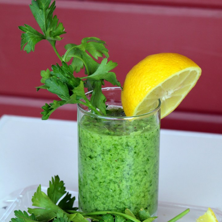 Italian Parsley Banana Lover Drink from the best food blog 5starcookies