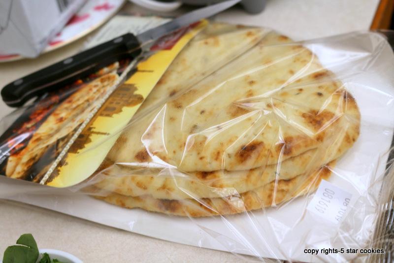 Garlic Naan Bread used for Breakfast Fab Omelet