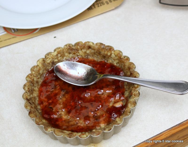 Nutella Summer Tarts-adding raspberry or strawberry jam