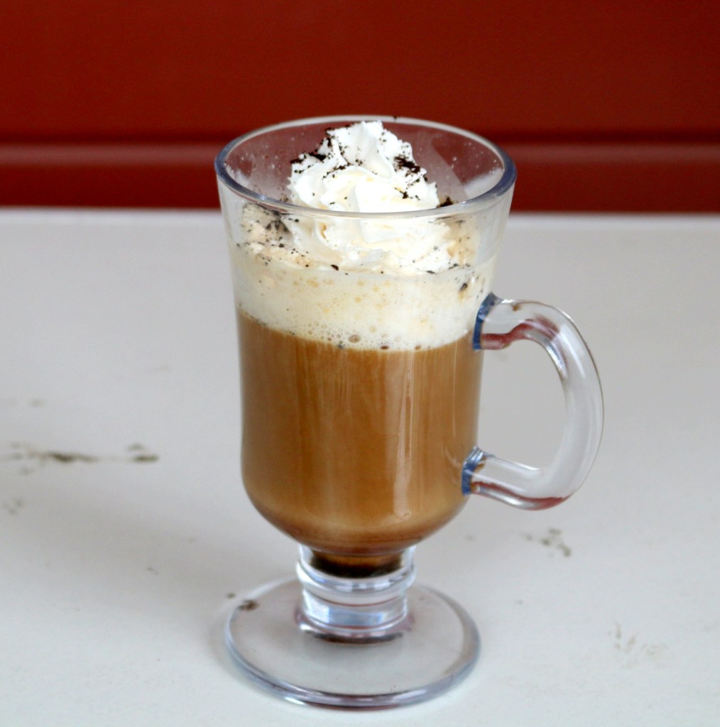 Spanish Nutella coffee from the best food blog 5starcookies-coffee,Nutella, rum and fun