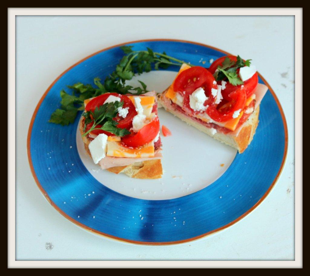 are you on diet-eat half of hero open sandwich